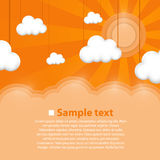 Decoration clouds background. Royalty Free Stock Images