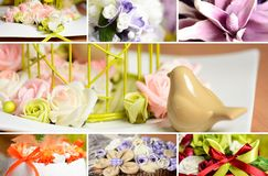 Decoration collage Royalty Free Stock Photo