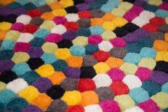 Decoration colorful carpet, wool carpet. Decoration colorful carpet made from wool Royalty Free Stock Photos