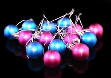 Decoration-coloured balls. Royalty Free Stock Photo