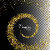 Decoration confetti element for design. Royalty Free Stock Photography
