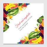 Decoration on corner with ripe vegetable Royalty Free Stock Image