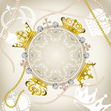 Decoration crowns frame. Illustration Royalty Free Stock Photography