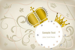 Decoration crowns frame Stock Photography