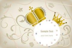 Decoration crowns frame. Illustration Stock Photography
