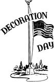 Decoration Day With Flag Stock Image