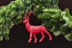 Decoration deer Christmas market Stock Image