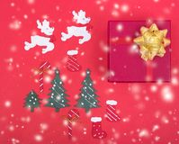 Decoration design in christmas holiday stock photography