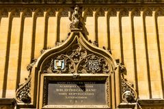 Decoration detail of Tower at the Five Orders housing the Bodleian Library in Oxford stock photography