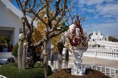 Wat Rong Khun temple details in Chiang Rai, Thailand Royalty Free Stock Photo