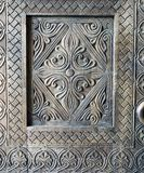 Decoration details wooden carved door. Of one of the temples in Tbilisi stock photography