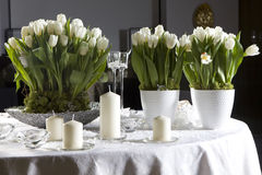 Decoration of the dining table. For Valentine's Day stock image
