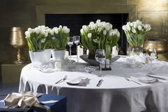 Decoration of the dining table Royalty Free Stock Photos