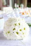 Decoration of dining table for wedding reception Stock Photos