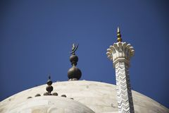 Decoration on dome of Taj Mahal. Located in Agra, India stock photos