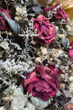 Decoration of dried flowers. Roses. A dried rose depicted Stock Photography