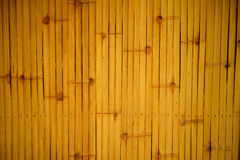 Decoration dry bamboo fence background Royalty Free Stock Image