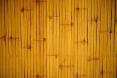 Decoration dry bamboo fence background Royalty Free Stock Image