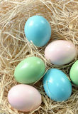 Decoration with easter eggs Stock Images