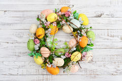 Decoration from easter eggs Royalty Free Stock Photography