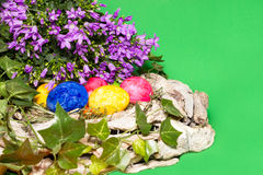 Decoration. Easter decoration on a green background Royalty Free Stock Image