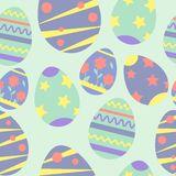 Vector seamless pattern on the theme of Easter and spring. Cartoon illustration royalty free illustration