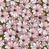 Decoration element. Floral style. Seamless. Stock Image