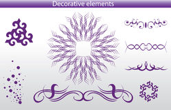 Decoration elements Stock Image