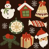 Decoration elements for Christmas 1 vector illustration