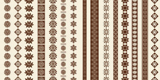 Decoration elements patterns Royalty Free Stock Image