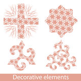 Decoration elements set Royalty Free Stock Photography