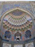 Decoration entrance Ulugh Beg madrassah in Bukhara Stock Photos
