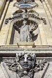 Decoration of the facade of Buda Castle, Budapest, Hungary Royalty Free Stock Photo