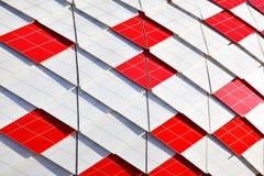 Decoration of facade of Otkrytie Arena Stadium Stock Images