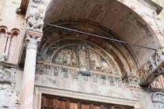 Decoration of facade of San Zeno Basilica, Verona Stock Photography