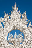 Decoration of famous white church, Thailand Royalty Free Stock Image