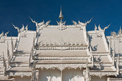 Decoration of famous white church, Thailand Royalty Free Stock Photo