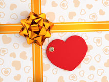 Decoration of Festive Gift Box Stock Images