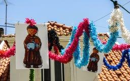 Decoration for the festivities of the popular saints Festas de Lisboa Royalty Free Stock Photo