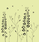 Decoration with field flowers. Vector Stock Photo