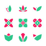Decoration Flower Market Symbol Creative Company Floral Ornament Vector Icon. EPS10 Royalty Free Stock Photography