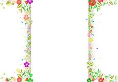 Decoration of Flower spring background with space for text Stock Image