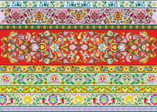 Decoration flowers. Vector drawings of floral decorations such grotesque, patterns royalty free illustration