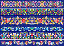 Decoration flowers on blue. Vector drawings of floral decorations such grotesque, patterns vector illustration