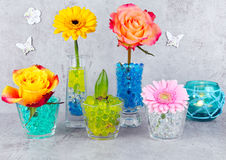 Decoration with flowers Stock Photo