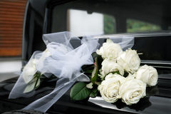 Decoration flowers for wedding car Stock Photo