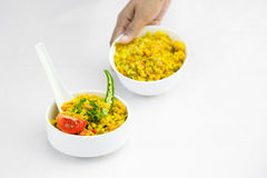 Decoration of food stock photography