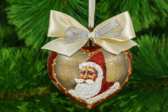 Decoration in form of pendants in the shape of heart for Christm Royalty Free Stock Photography