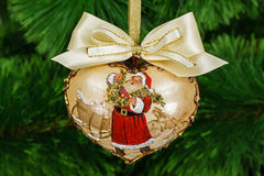 Decoration in form of pendants in the shape of heart for Christm Royalty Free Stock Image