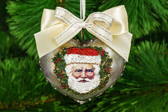 Decoration in form of pendants in the shape of heart for Christm Stock Images